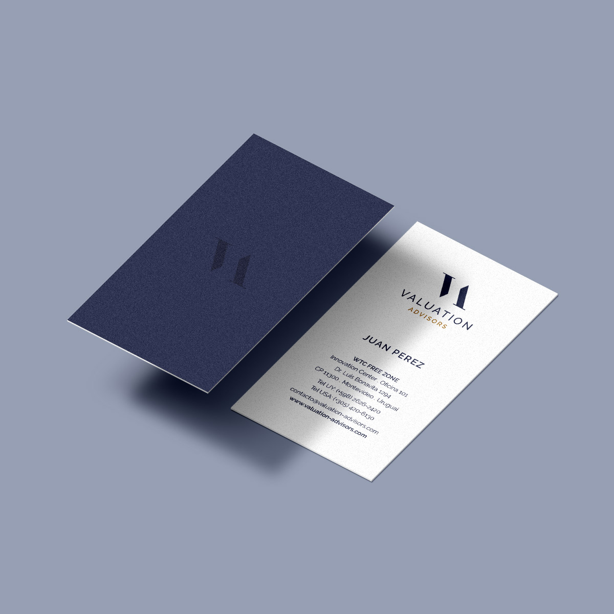 Projeto de Branding Valuation Advisors - Cartão de Visitas