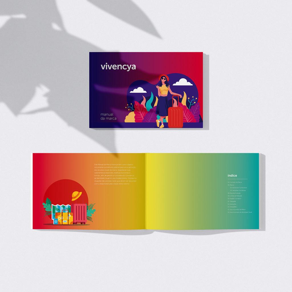 Projeto de Branding para Agência de Viagens Vivencya - Brandbook