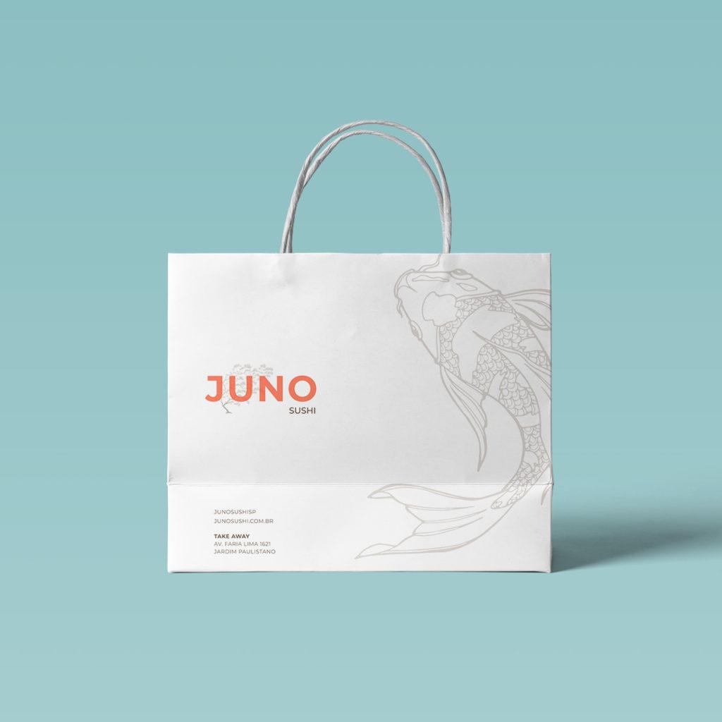 Projeto Branding Restaurante Japonês Juno Sushi - Sacola